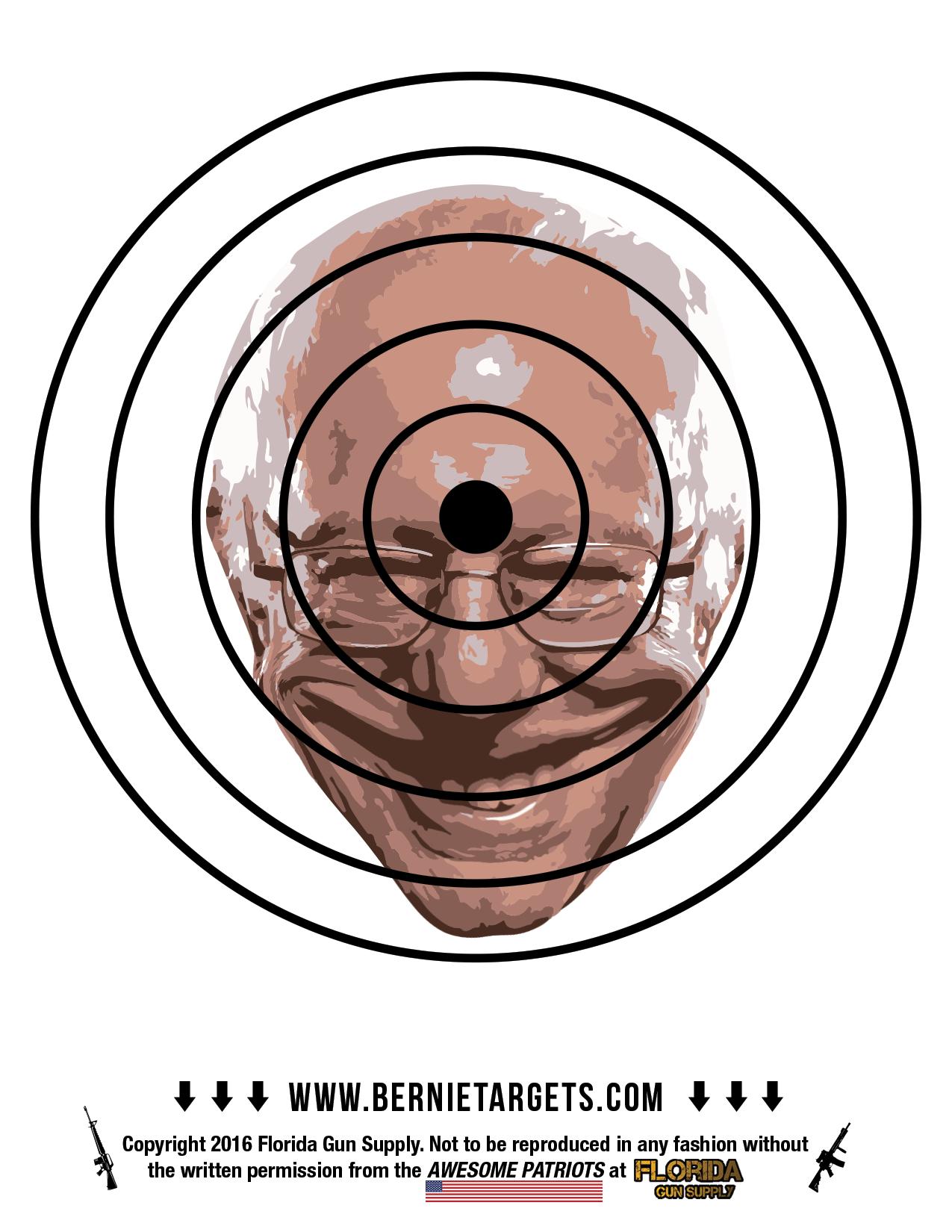graphic about Printable Shooting Targets 8.5 X 11 identified as Bernie Sanders Focus (8.5X11!)